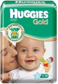 Huggies - Gold Size 3 Midi 58
