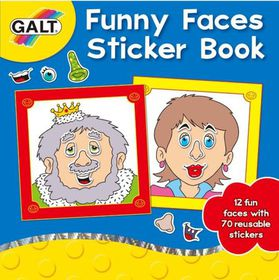 GALT - Funny Faces Sticker Book