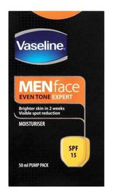 Vaseline - Face Moisturiser SPF For Men - 50ml (Bottle)