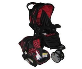 Chelino - Apache Travel System - Black/Red