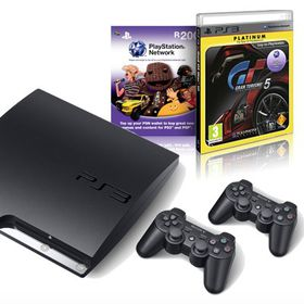 Playstation 3 Console 320GB + GT5 Platinum + PSN R200 + 2 x Dual Shock Controllers (PS3)