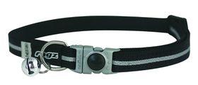 Rogz - Alleycat Reflective Breakaway Collar - Black