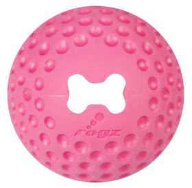 Rogz - Dog Gumz Treat Ball - Small 4.9cm - Pink