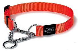 Rogz - Utility Medium Snake Dog Check Collar - Orange