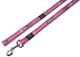 Rogz Fancy Dress Small Jellybean Fixed Lead - Pink Swirl