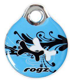Rogz - Self-Customisable Small Resin ID Tag - Turquoise