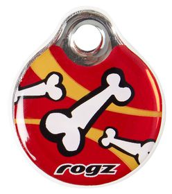 Rogz Self-Customisable Large Resin ID Tag - Red
