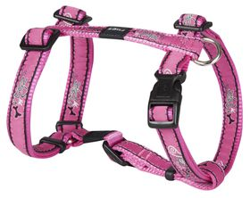 Rogz Fancy Dress Medium Scooter Dog H-Harness - Pink