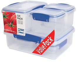Sistema - 6 Piece Klip It Food Storage Set