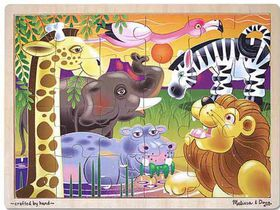 Melissa & Doug African Plains Wooden Puzzle - 24 piece