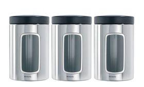 Brabantia - Window Canister Set - Brilliant Steel