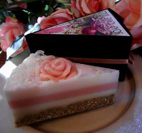 Rose en Bos Soap with Exfoliator- 'Cake' Slice 100g - get your slice