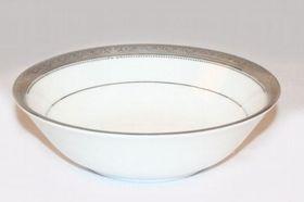 Noritake Signature Platinum Round Vegetable Dish - White & Platinum