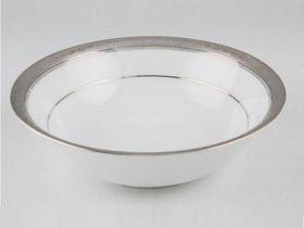 Noritake Signature Platinum Cereal Bowl 16cm - White & Platinum (16mm x 16mm x 4mm)