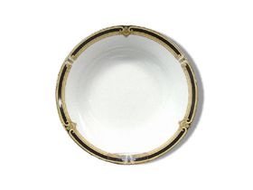 Noritake - Braidwood Fruit Saucer 14 cm - White and Gold With Black Detail - 14 mm x 14 mm x 2 mm