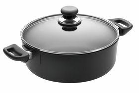 Scanpan Classic 5L Low Sauce Pot with Lid -28cm
