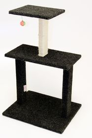 Scratzme Kitty Condo Scratching Post GREY/CHARCOAL