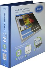 Bantex Create-A-Cover 2 D-Ring A4 40mm Ring Binder - Blue