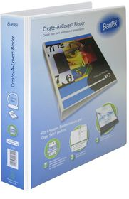 Bantex Create-A-Cover 2 D-Ring A4 40mm Ring Binder - White
