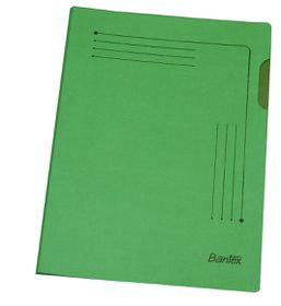 Bantex Insert Folder A4 - Grass Green (25 Pack)