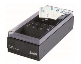 Bantex Business Card Filing Box - Black (Holds 600 Cards)