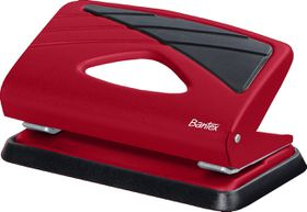 Bantex Small Home 2 Hole Punch  - Red
