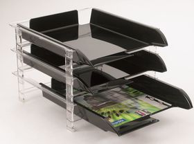 Bantex Vision 3 Tier Letter Tray - Blue
