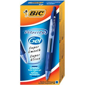BIC Velocity Gel 0.7mm Retractable Pen - Blue (Box of 12)