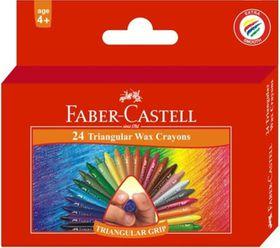 Faber-Castell 24 Triangular Wax Crayons