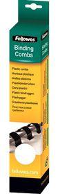 Fellowes 8mm 21 Loop Plastic Binding Combs - White (Pack of 25)