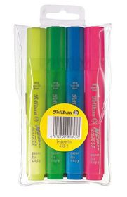 Pelikan Textmarker 438 Neon Marker (Wallet of 4)