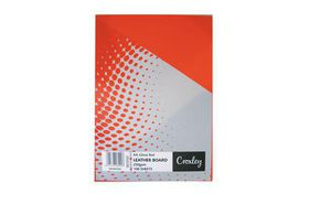 Croxley Binding Leather Board 250gsm - Gloss Red (Pack of 100)
