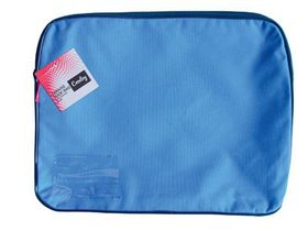 Croxley Canvas Gusset Book Bag - Blue