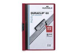 Durable Duraclip 60 Page Folder - Burgandy