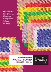 Croxley Project Board 160gsm 510mm x 640mm - 25 Sheets White