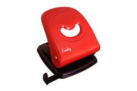 Croxley Medium Metal Duty Punch - Black & Red (30 Page)