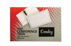 Croxley PVC Conference Tags - Box of 50