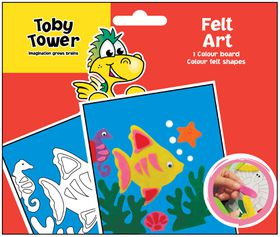 Toby Tower Felt Art - Fish
