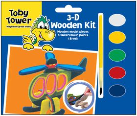 Toby Tower 3D Wooden Kit - Helicopter