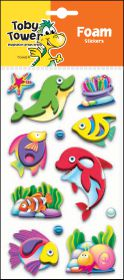 Toby Tower 3D Foam Stickers - Dolphin