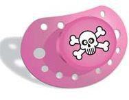 ErgoBaby - Pacifier - Skulls Pink