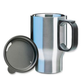Isosteel - Stainless Steel Car Mug 400ml - Silver