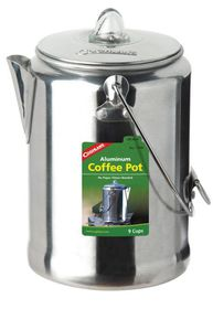 Coghlan's - 9 Cup Aluminum Coffee Pot - Silver