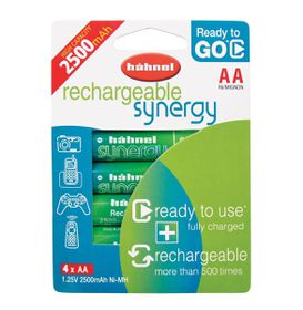 Hahnel Synergy AA 2500MAH Rechargeable Batterries