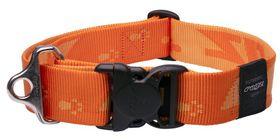 Rogz Alpinist Big Foot Dog Collar Extra-Extra Large - 40mm Orange
