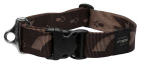 Rogz - Alpinist Big Foot Dog Collar - 2 x Extra-Large - 4cm Chocolate