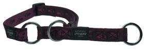Rogz Large Alpinist K2 Web Half-Check Dog Collar - 20mm Purple