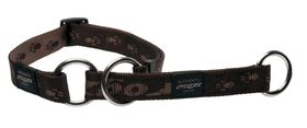 Rogz Large Alpinist K2 Web Half-Check Dog Collar - 20mm Chocolate
