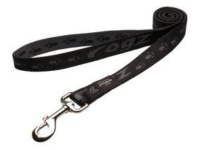 Rogz Extra-Large Alpinist Everest Fixed Dog Lead - 25mm Black
