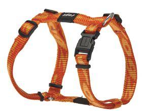 Rogz Small Alpinist Kilimanjaro Dog H-Harness - 11mm Orange